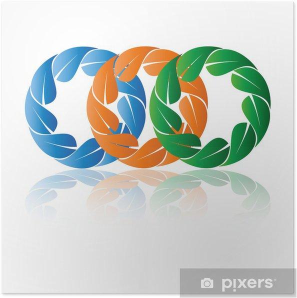 Poster Логотип природа - Signes et symboles