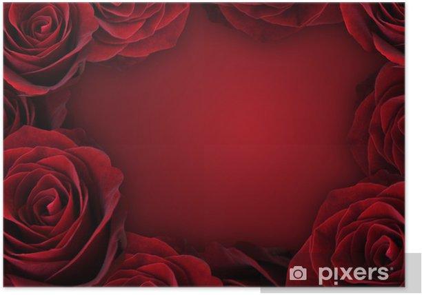 薔薇の背景 Poster - Backgrounds