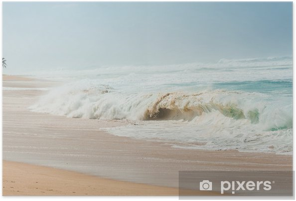 Póster ハワイ,冬のノースショアー - Agua
