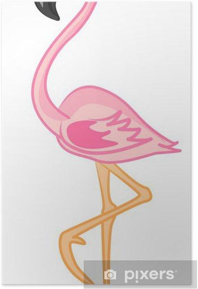 Poster Мультфильм фламинго - Oiseaux
