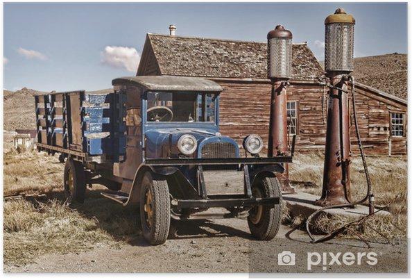 Poster 1927 camion - Sur la route