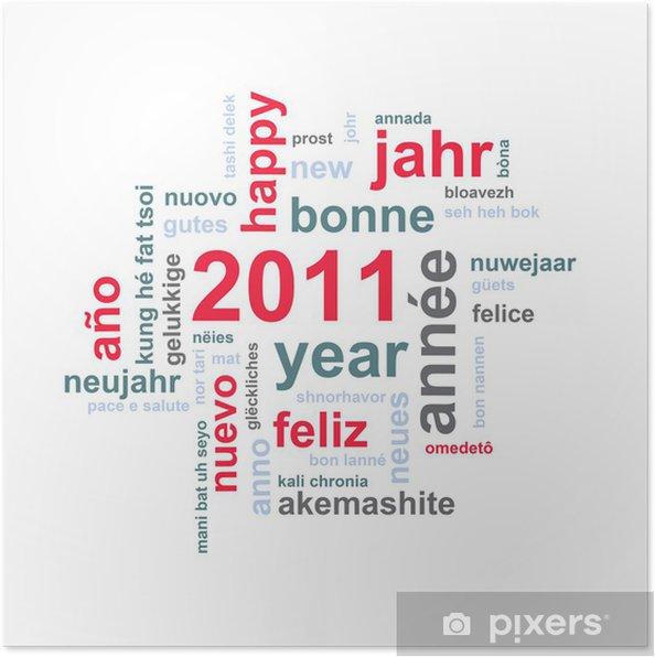 Poster 2011 Gelukkig Nieuwjaar In Alle Talen Pixers We Leven Om