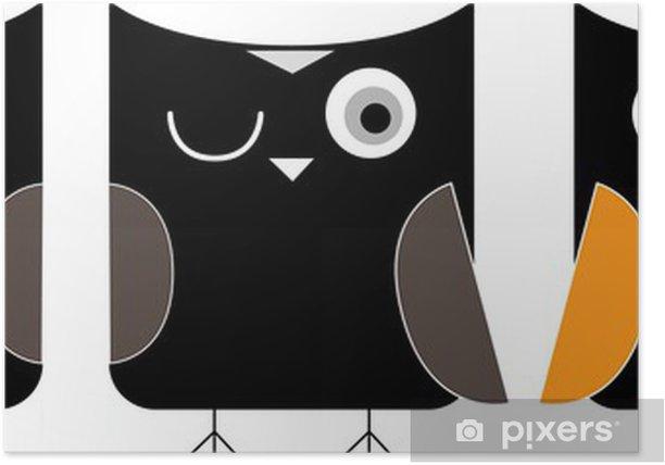 3 owls cartoon Poster - Destinations