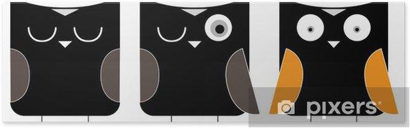 Poster 3 uilen cartoon - Bestemmingen