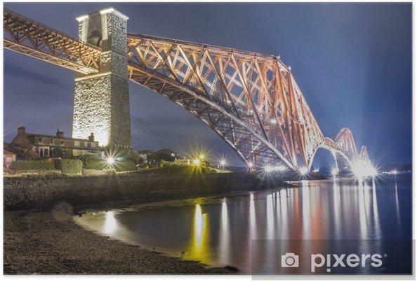 Poster 'S nachts over de rivier in Edinburgh - Thema's
