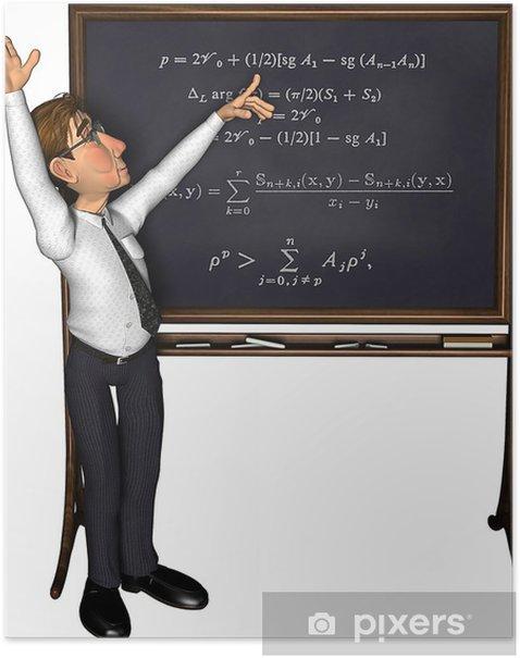 Poster 3d dessin animé enseignement privé - Sticker mural