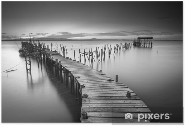 A peaceful ancient pier Poster - Landscapes