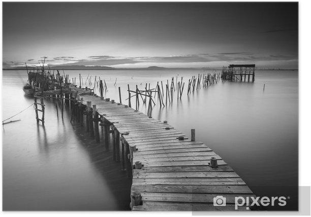 A peaceful ancient pier Poster - Landscapes