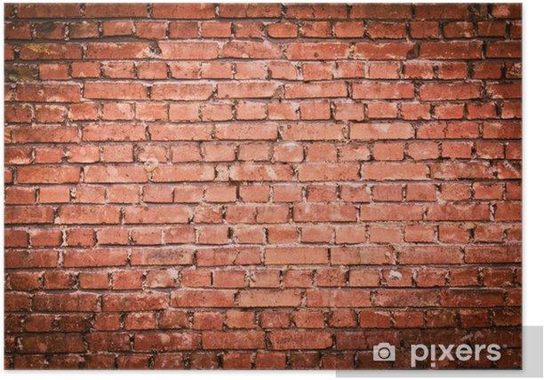 A Red Old Brick Masonry Poster