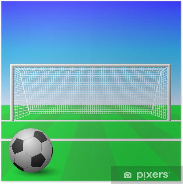 A Soccer Goal with Ball Poster • Pixers® • We live to change 5a088c91e0afb