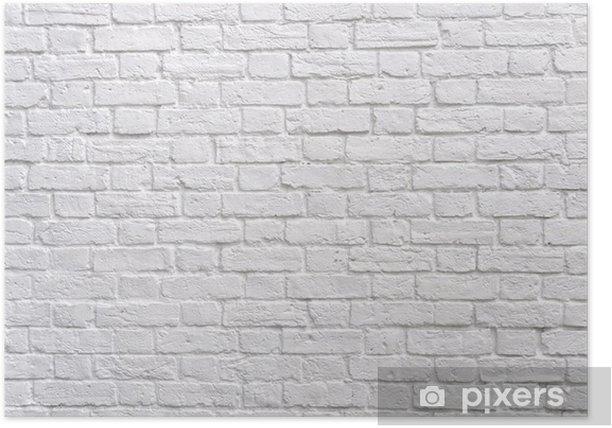 A white brick wall Poster - Themes
