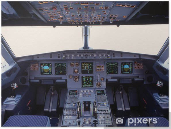 Poster A319 cockpit - Dans les airs