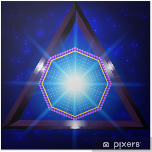 Abstract 3d Technology Background Poster Pixers We Live To Change