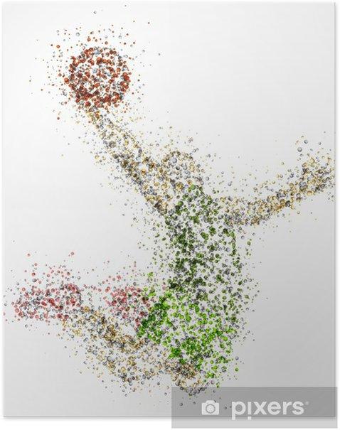 Abstract basketball player Poster - Basketball