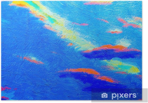 Abstract blue color texture. Poster - Landscapes