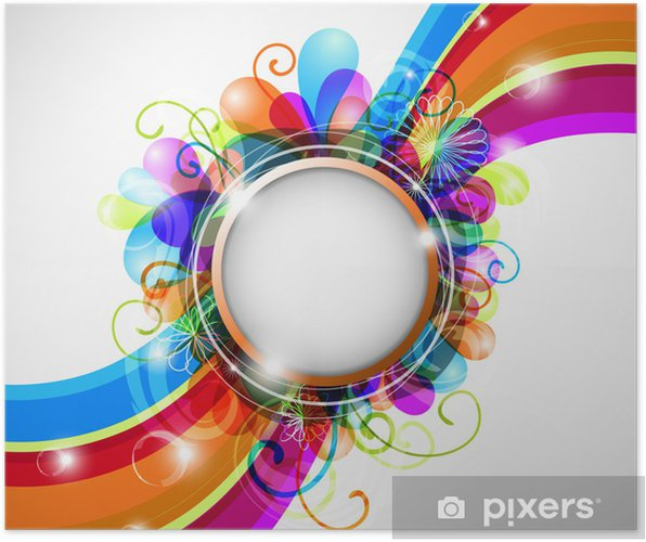 Abstract Colorful Background With Copyspace Eps10 Poster