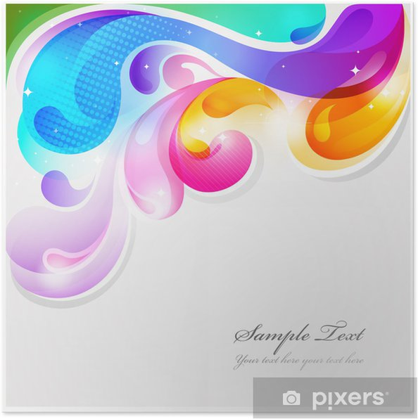Abstract colorful paint splash vector background Poster