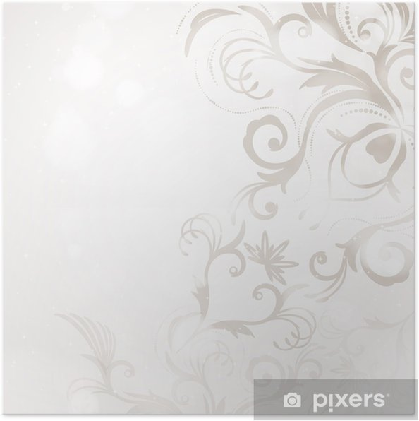 Poster Abstract Floral Background - Arrière plans