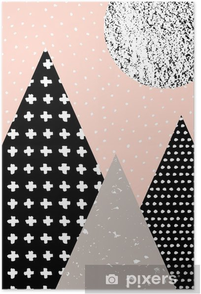Abstract Geometric Landscape Poster - Graphic Resources