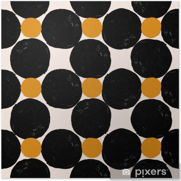 Poster Abstract geometrisch patroon - Grafische Bronnen