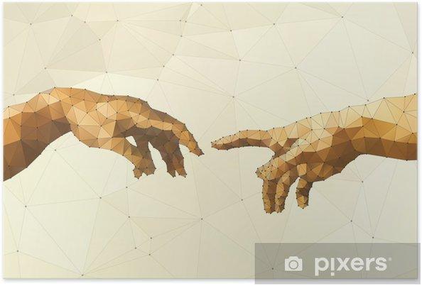Poster Abstract Gods hand vector illustratie - Grafische Bronnen