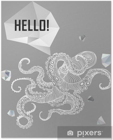Poster Abstract gothic - Grafische Bronnen