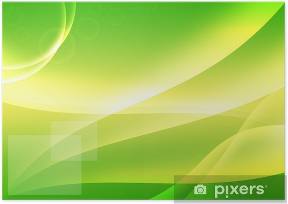 Abstract Green Background Wallpaper Poster