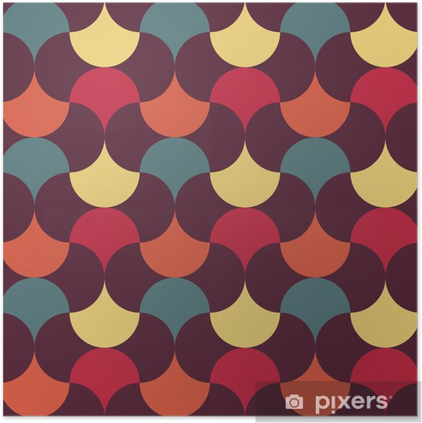 Poster Abstract retro geometric pattern - Abstrait