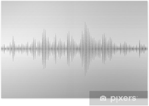 Abstract sound waves. Poster - Technology