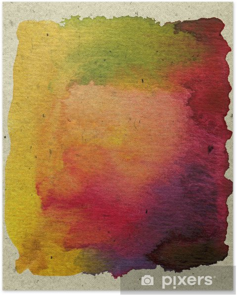 abstract textured watercolor paint Poster - Backgrounds