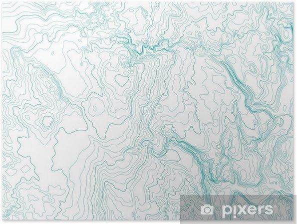 Poster Abstract topografische kaart, vector achtergrond - Grafische Bronnen