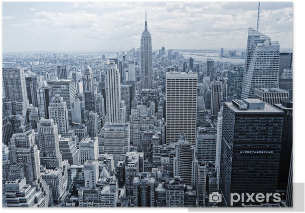 Abstract view from the height to Manhattan Poster - New York