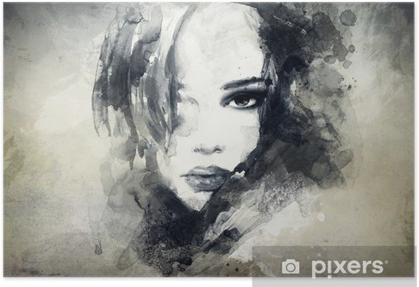 abstract woman portrait Poster -