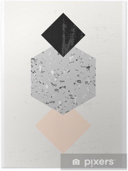 Poster Abstracte Geometrische compositie. - Grafische Bronnen