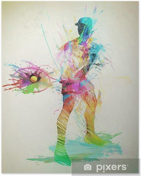Poster Abstracte Tennisser - Gevoelens, Emoties en Staten van Geest