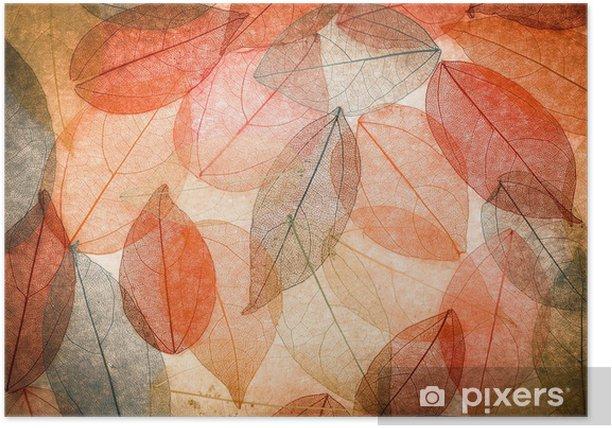Poster Abstrait automne - Saisons
