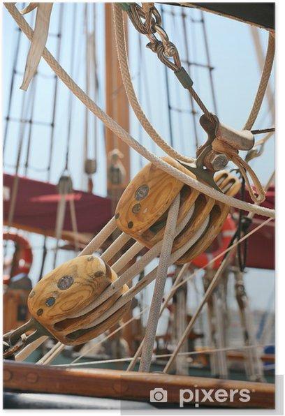 accastillage de voilier Poster - Boats