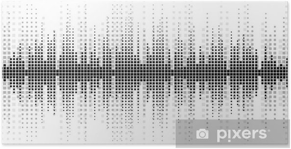 Poster Achtergrond met een geluid schaal. - Grafische Bronnen