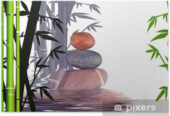 Póster Actitud zen. - Plantas