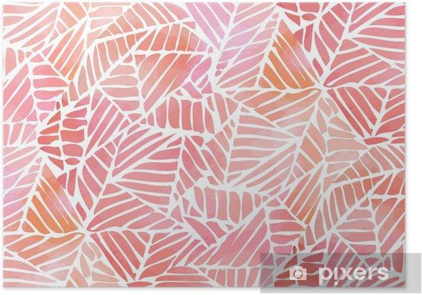 Póster Acuarela abstracta sin fisuras patrón. ilustración vectorial - Recursos gráficos