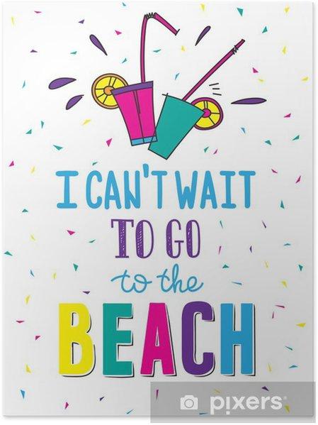 Poster Affiche d'été tirée par la main en citant - Passe-temps et loisirs