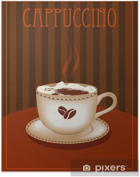 Poster Affiche de Cappuccino - Boissons chaudes