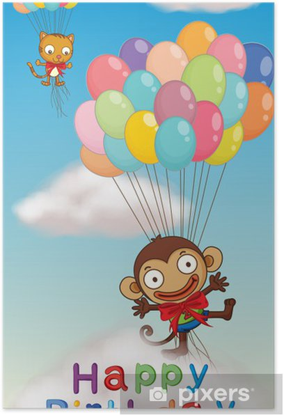 Poster Affiche De Joyeux Anniversaire Pixers Nous Vivons Pour