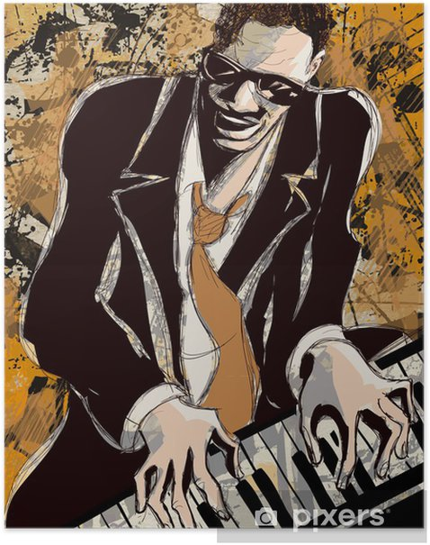 afro american jazz pianist Poster - Jazz