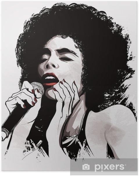 afro american jazz singer Poster - Jazz