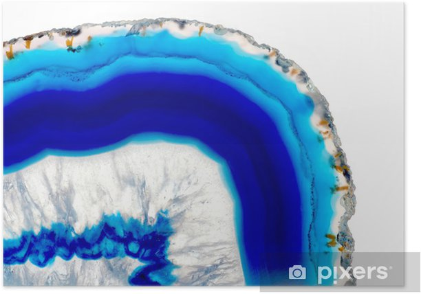 Poster Agate bleue - Mode