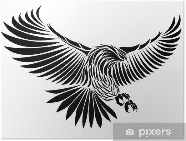 Poster Aigle - Sticker mural