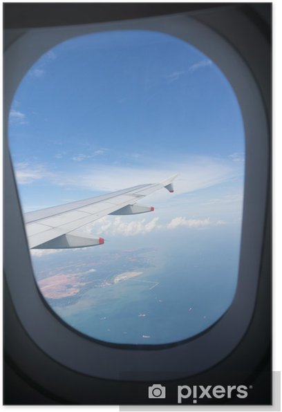 Airplane Window View Poster Pixers We Live To Change