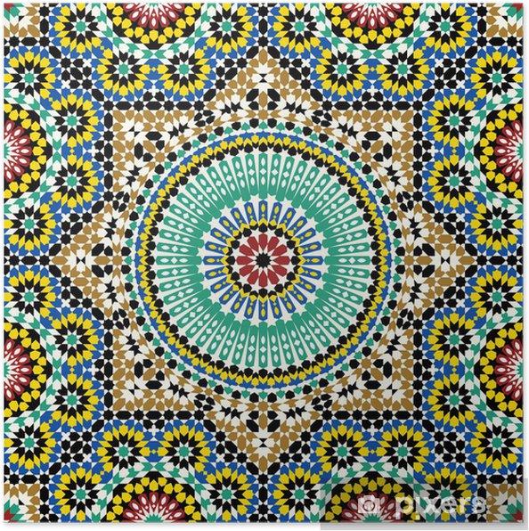 Poster Akram Marocko Mönster Fem - Marocko