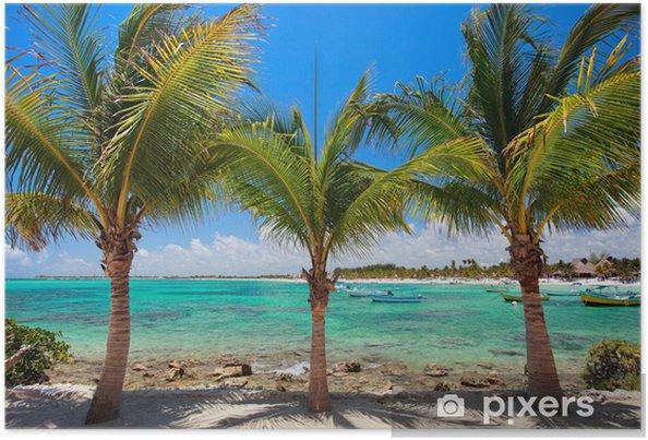 Poster Akumal Beach au Mexique - Eau